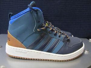 Details zu adidas NEO CF Hoops MID WTR BB9915 Herren Sneakers Blau braun Gr.43 13 NEU OVP!