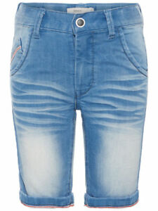 Genial Name It Nkmsofus Dnmtravis Long Shorts Noos Jeansshorts Denim Light Blue Hosen & Shorts