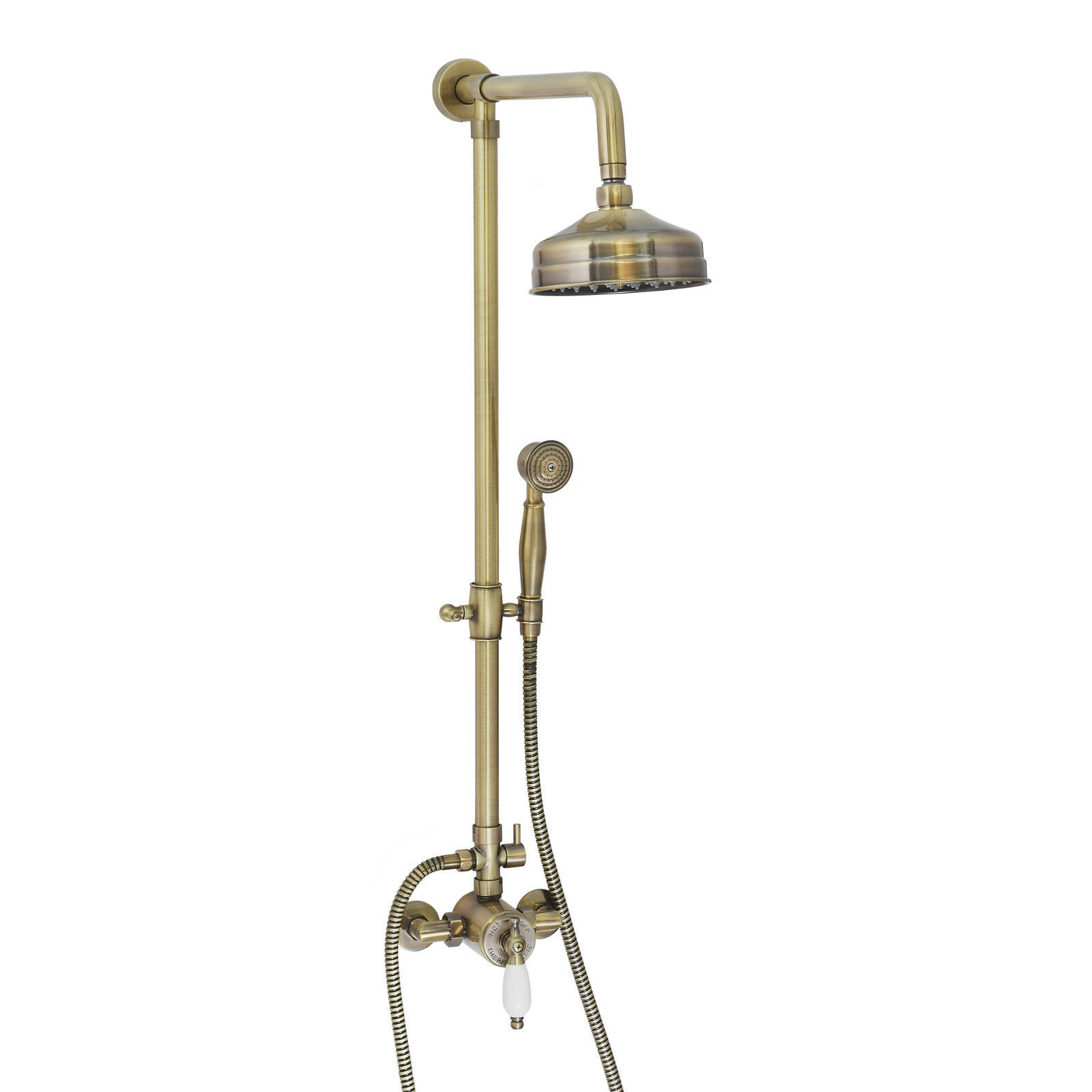 Enki 6 in (environ 15.24 cm) cm) cm) Kit de douche laiton Thermostatique Séquentiel Antique Bronze traditionnel   Respectueux De L'environnement  1bc9af