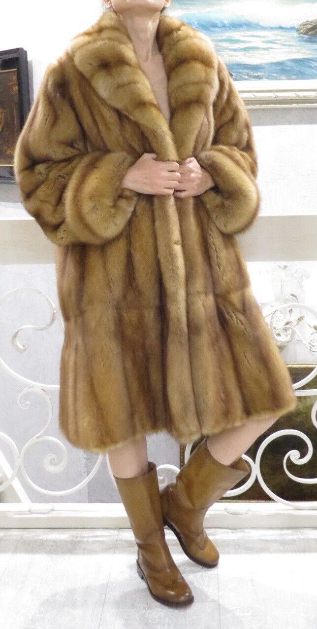 35000 Russian Sable Fur SWINGER Coat L XL 10 12 14 Flexible pelts Sweep 80