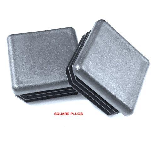 "1.59/""-1.68/"" ID Plastic Tubing Plugs 14-20 G 1.75 Inch 1-3//4/"" Square End Caps"