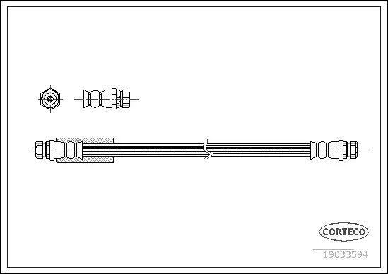 Tubo Freno Corteco 19033594
