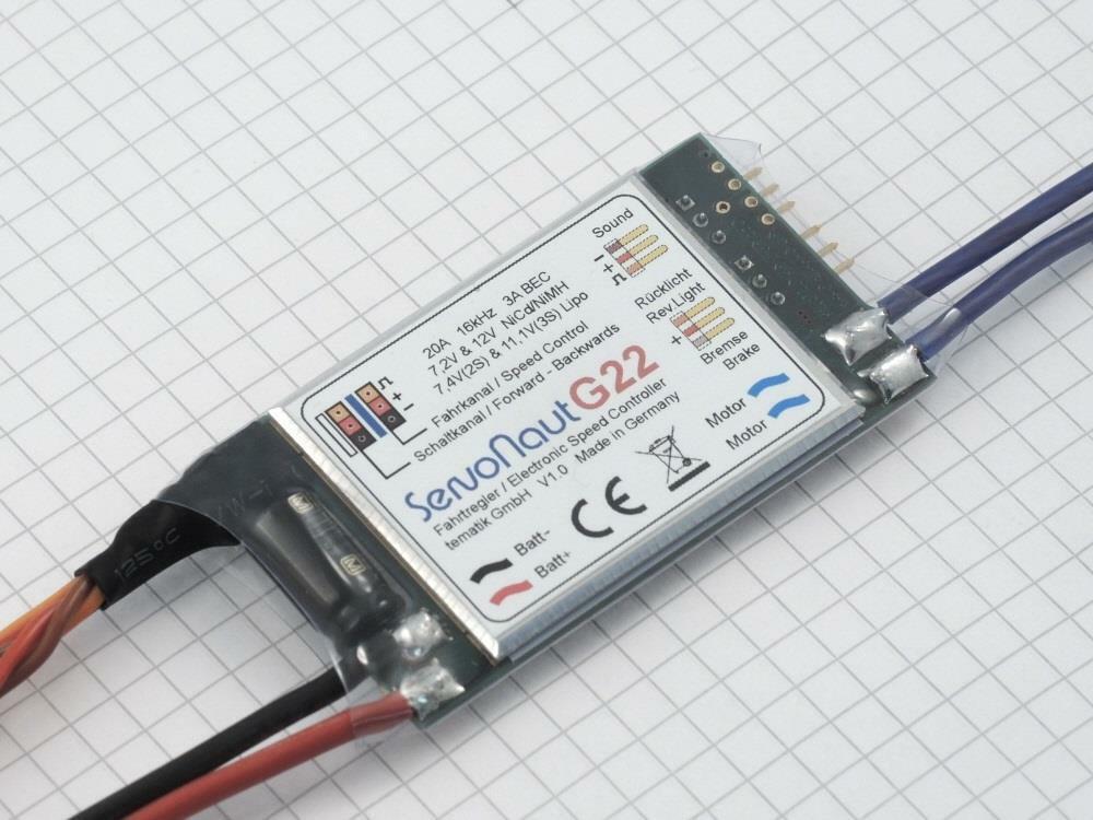 Servonaut G22 Controlador de velocidad con engranaje Shift