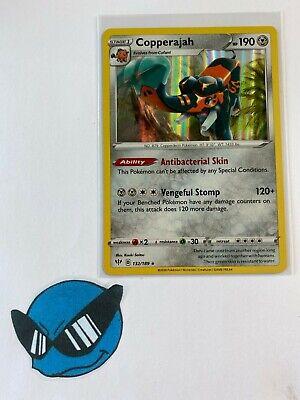 Pokemon SWSH DARKNESS ABLAZE COPPERAJAH 132//189 RARE HOLO Card TCG Sword Shield
