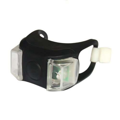 LED Silicon Bicycle Headlight Front Light Mountain Bike Outdoor  Cycling Tool US