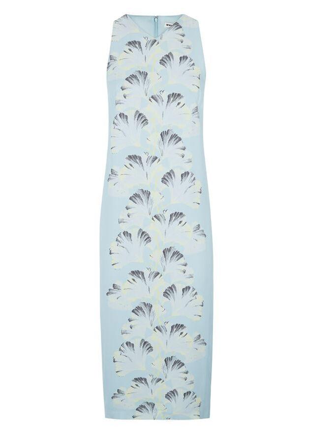 WHISTLES para Mujer Vestido Vestido Vestido Midi azul Palm Imprimir palangre-Reino Unido 10-Bnwt-Rrp  - f25b88