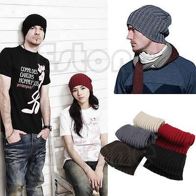 Vogue Unisex Men Beanie Skull Hip-Hop Warm Winter Wool Knit Ski Slouchy Cap Hat