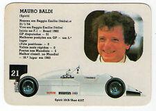 1986 Portugese Pocket Calendar F1 Driver Mauro Baldi Arrows Team Spirit 101B car