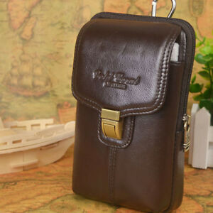 80ca4777301 PU Leather Cell Phone Holster Bag Smartphone Pouch Belt Case Waist ...