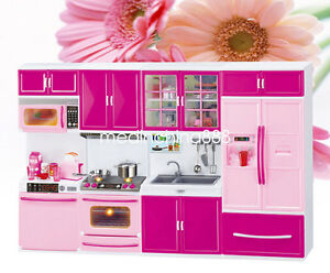 4pcs Mini Kitchen Pretend Play Cooking Set Cabinet Stove Toy for Kids Baby USA