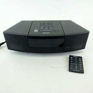Black Bose Wave Radio CD Player Alarm Clock Model AWRC-1G Excellent Condition!