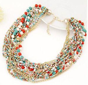 Fashion-Vintage-Boho-Chain-Statement-Choker-Women-Charm-Necklace-Bead-Bib-Collar