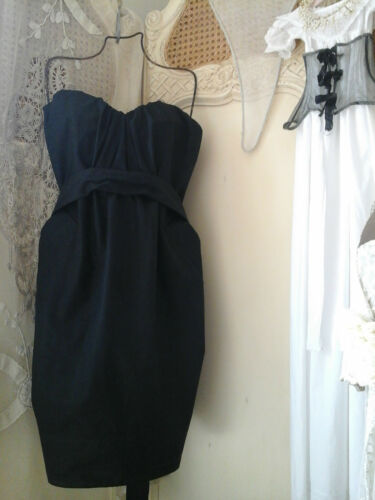 cintura Splendido ~ Taglia 6 abito nero Allsaints ~ 225 Spitalfields ~ AaxwUUqRn