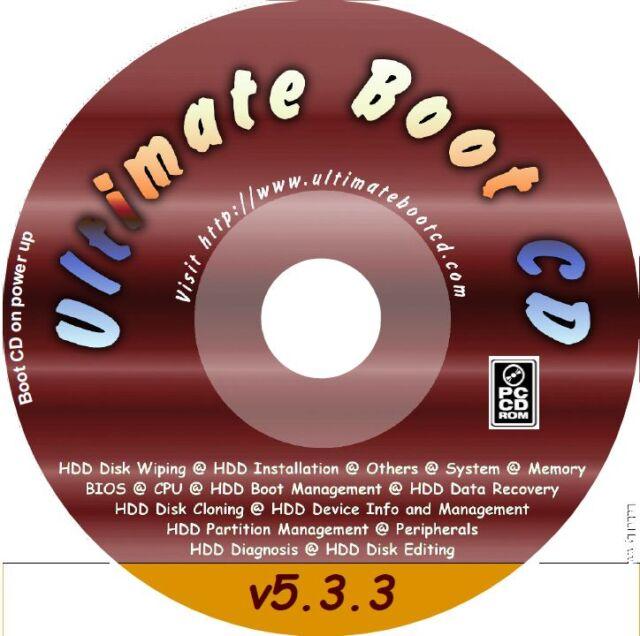Ultimate Boot CD  5.3.5 UBCD   PC Tools repair recover disc utilities 130+ apps