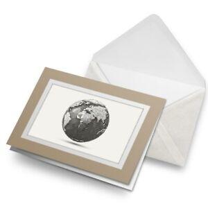 Greetings-Card-Biege-Line-Art-Earth-Globe-Planet-Space-21582