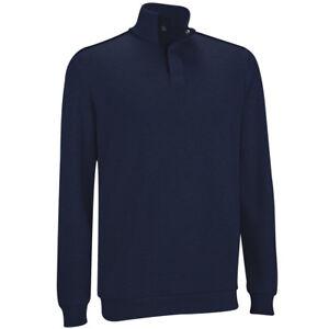 Ashworth-Golf-French-Rib-1-2-Zip-Jumper-Sweater-Pullover-RRP-60-M-L-XL-NAVY
