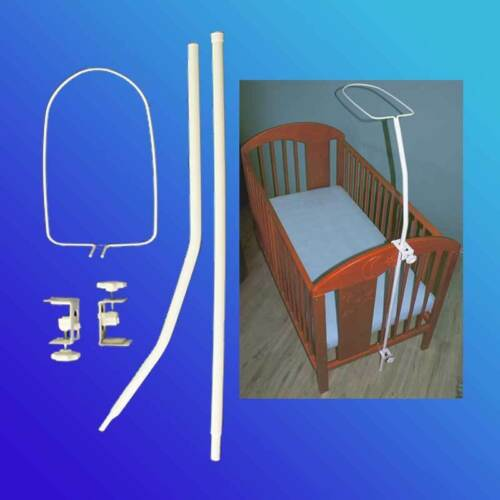 Himmelstange Himmel Gestell universal für Kinderbett Babybett Betthimmel Weiss