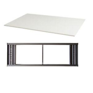 IKEA GALANT Desk White Top with Desk Frame Desktop | eBay