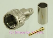 Coax Connector Mini-UHF Male Crimp RG-58 2-Pack - by W5SWL ®