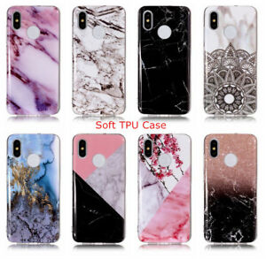 For-Xiaomi-8-Mi8-Mi6-Mix-2s-Redmi-S2-6A-Marble-Pattern-Soft-Silicone-Case-Cover