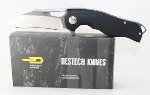Bestech-Knives-Rhino-Knife-Black-G-10-Handle-154CM-Plain-Gray-Titan-Edge-BG08A-2