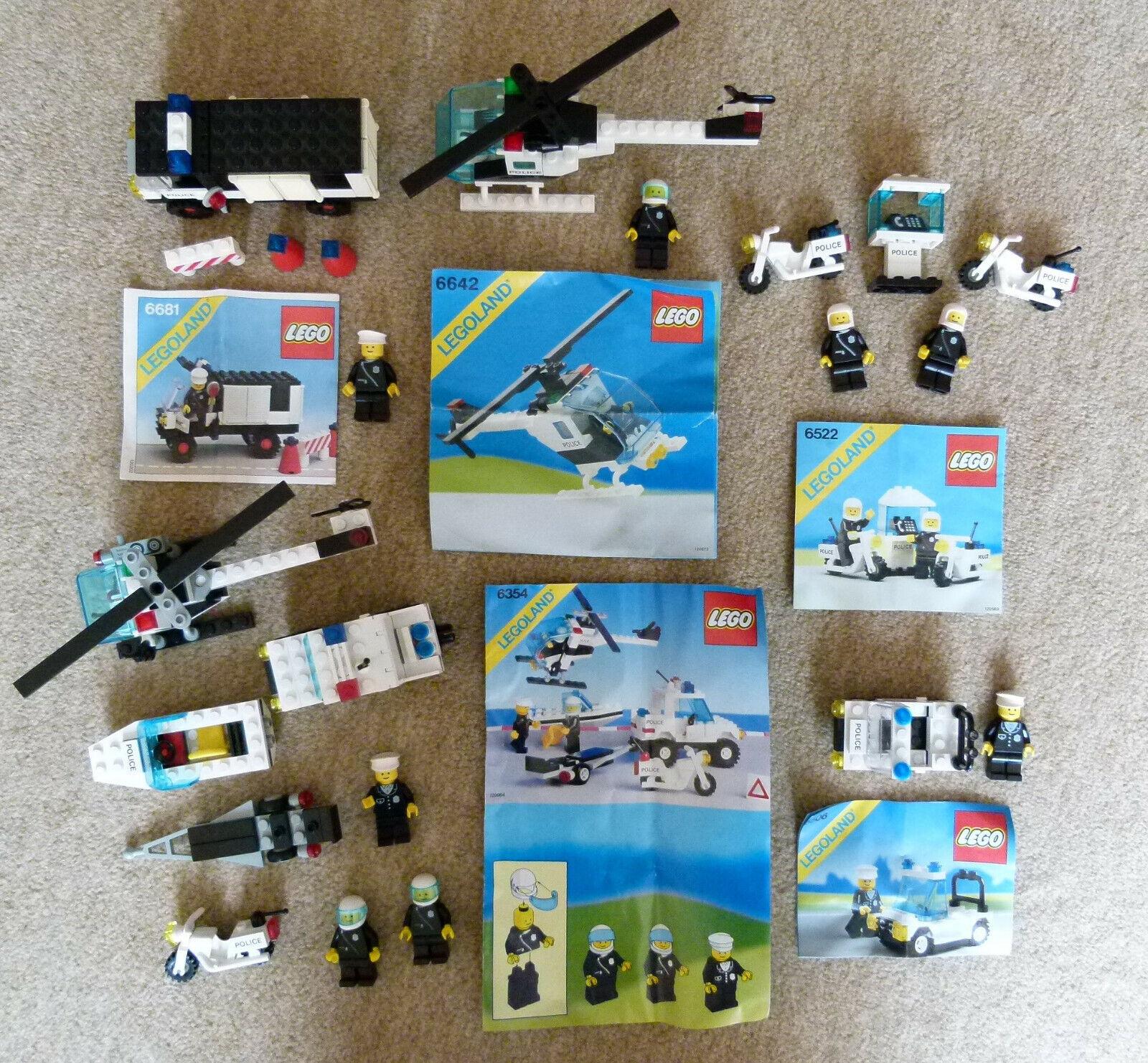 5 LEGO MODELLE 6354 6506 6522 6642 6681 POLIZEIHUBSCHRAUBER POLIZEI VAN HIGHWAY