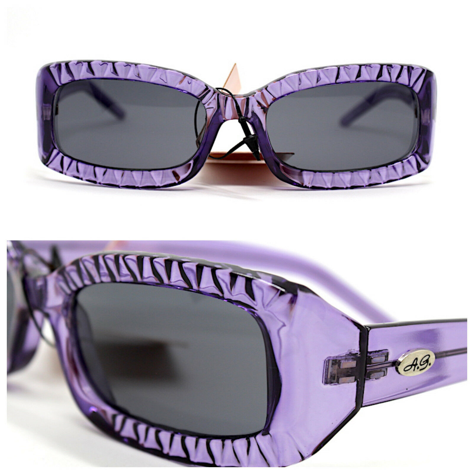 * upe sun transparent purple rectangular womens vintage 90 hippies