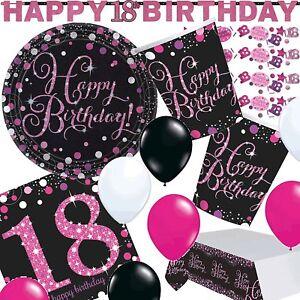 18 Geburtstag Volljährig Jubiläum Feier Party Pink Sparkling