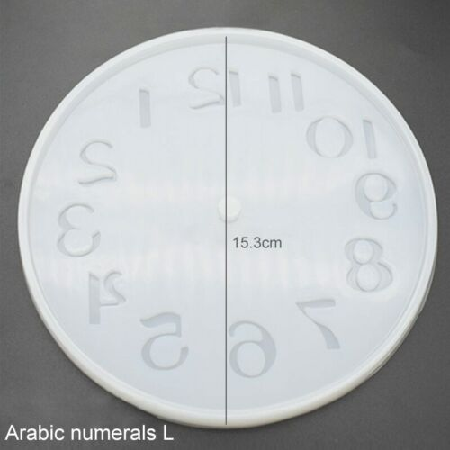 Clock Silicone Expoxy Resin Mold Pendant Jewelry Making DIY Mould Tool