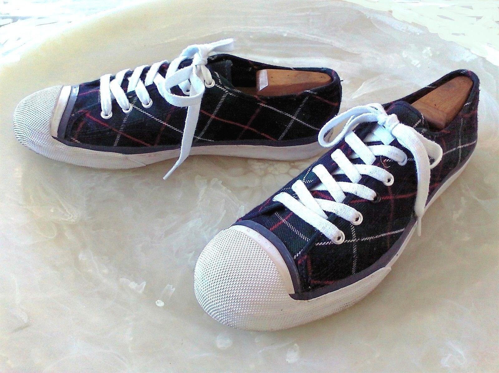 4899fb7d0a5c4 PAUL SMITH Inari Men s 9.5 M Navy bluee Green Tartan Low Top Sneakers