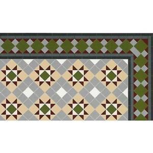Puppenhaus Viktorianisch Mosaik Grosvenor Fliese Boden 1:12 Glänzend Card Blatt
