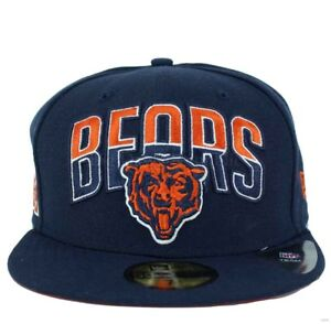 71f1167b2 New Era Official NFL 59Fifty Chicago Bears Navy Fitted Baseball Cap ...