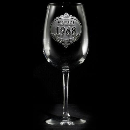 Vintage Year Engraved Wine Glasses SET OF 2 vintwine2
