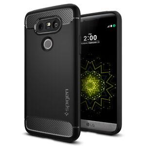 save off df4d0 2055d Details about Spigen® Motorola G5 Plus [Rugged Armor] Slim Shockproof Black  TPU Case Cover