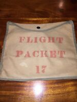 Vintage Canvas Flight Packet 17 Pouch War Military W Snap 12X9.5 (HL)