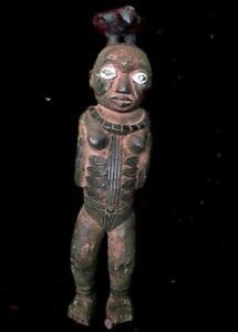 Antigua Figura de Fertilidad Kuyu tribal -- Congo BN 24