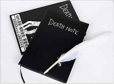 Death Note Cosplay Notebook W// Feather Pen Book Anime Writing Journ Top W1Y7
