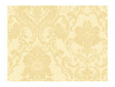 WALLPAPER SAMPLE  Gold Cream Chic Victorian Strie Damask
