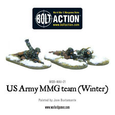 WARLORD GAMES BOLT ACTION NUOVO CON SCATOLA US ARMY MMG Team (INVERNO) wgb-wai-21