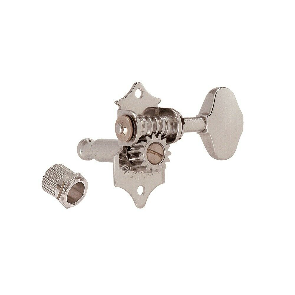 Gotoh SE770 Open Gear Tuners Nickel Finish (2 button options)