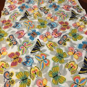 Butterfly-Flannel-Cotton-Fabric-18-Inches-By-42-Inches