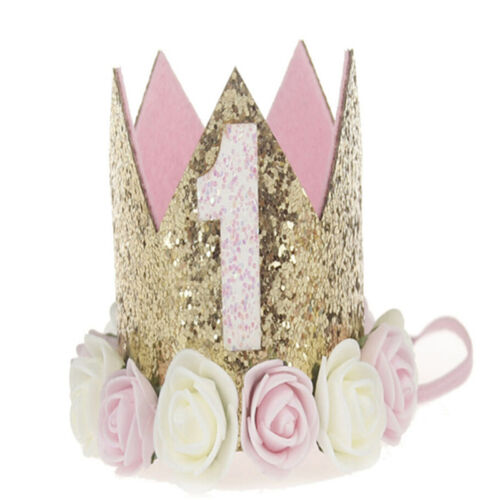 Princess Baby Girl 1st Birthday Flower Crown Party One /& Two Year Hairband^TiaTS