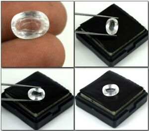 Ceylon White Sapphire Lustrous Gemstone Natural Oval 4.80 Ct Certified A11254