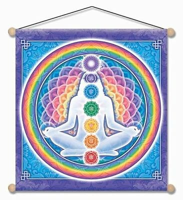 "Light Body Chakra Meditation banner 15"" x 15"" indoor/outdoor"