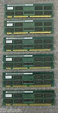 Trabajo Lote Hitachi 768mb (6 X 128 Mb) servidor los módulos de memoria P/n: hb56aw1672su-6f