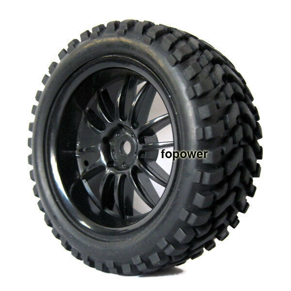 4x RC Pull Rally 1:10 Car On Road 1:16 Off-Road Wheel Rim & Tyre,Tires 6031-7004
