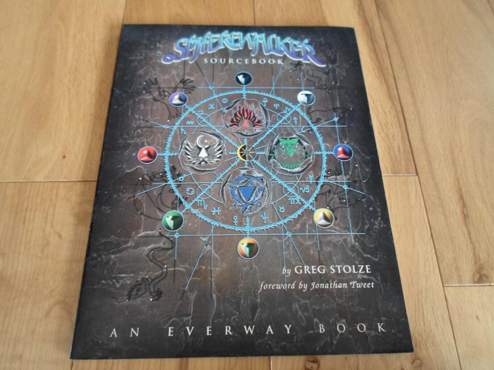 Ultra Raro everway spherewalker Sourcebook (casi Nuevo)