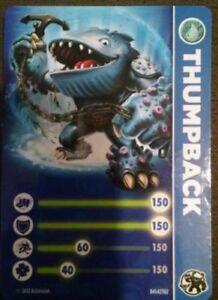 Thumpback skylander giants stat card only 47875845473 ebay - Skylanders thumpback ...