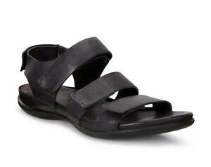 Details zu Ecco Flash Sandalen Sandaletten Riemchen black schwarz Leder