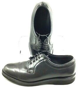 Barrie-Ltd-Booters-Oxford-Men-039-s-Sz-9-5-EE-Black-Leather-Plain-Toe-Lace-Up-Shoes